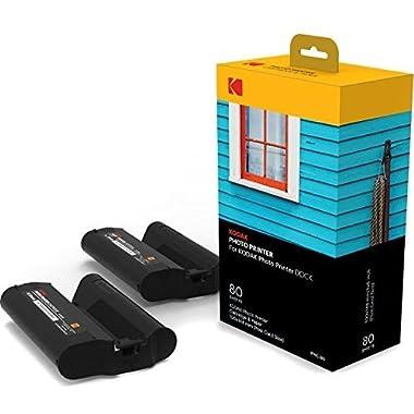 Kodak Dock & Wi-Fi Photo Printer Cartridge PHC – Cartridge Refill & Photo Sheets - 80 Pack