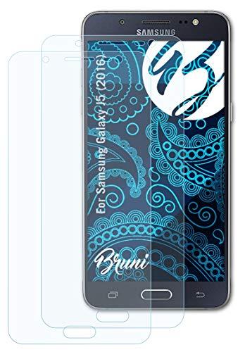Bruni Schutzfolie kompatibel mit Samsung Galaxy J5 (2016) Folie, glasklare Bildschirmschutzfolie (2X)