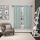 PAIRS TO GO Vickery Rod Pocket Curtains for Living Room, Double Panel, 56' x 63', Spa