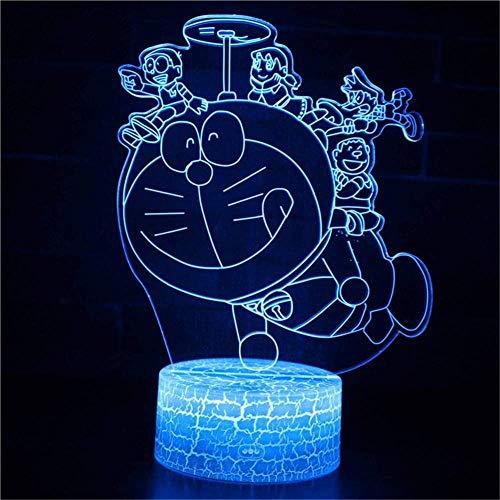 3D Luce Doraemon Bambini Lampada 7 Colori Led Migliori Regali Regalo Lampada Usb Powered Interruttore Tattile
