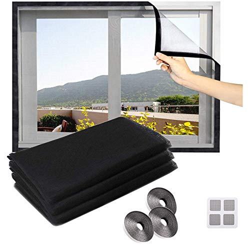 CZNDY 3pcs Mosquiteras para Ventanas,mosquitera Standard para ventanas,Adiós a los Onsectos,de insectos de la protección de la ventana se puede cortar, Mosquitera Fibra de Vidrio con Recubierto de PVC