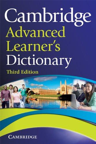 Cambridge advanced learner's dictionary: 3rd Edition Hardback