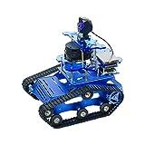 XiaoR Geek Raspberry Pi AI Robot Kit with Rplidar A1 Radar ROS SLAM Smart Car DIY Tank Robotics Kit Build Maps, Autonomous Navigation, Object Recognition Tracking, Following (Blue)
