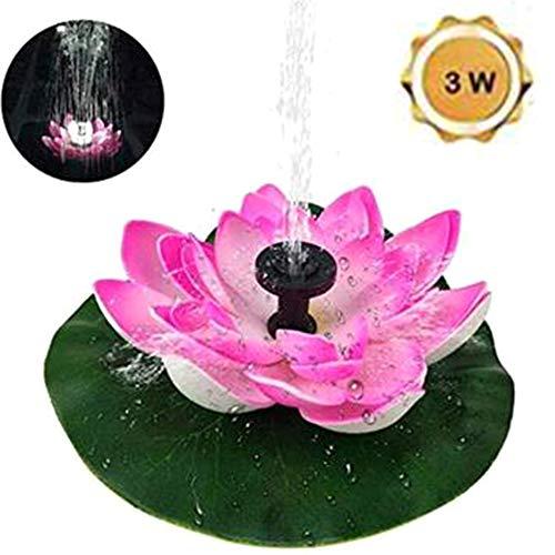 3W zonne-fontein - 9V pomp op zonne-energie met 7 spuitmonden, Lotus Shape Solar Water Fountain voor aquarium/vijver/zwembad/tuin