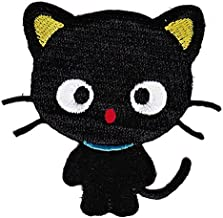 mi ji Divertida del gato DIY parche bordado cose en el hierro en remiendos Apliques de ropa de vestir de la planta Sombrero Jeans
