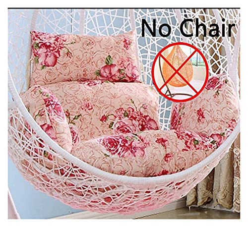 XiYou Garden Furniture Chair Cushions Hanging Egg Hammock Chair Cushion, Thick Wicker Chair Pad Individual Cradle Swing Overstuffed for Outdoor Indoor Seat Cushionation