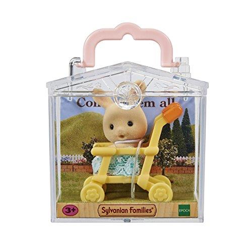 Sylvanian Families 5200 Minibox: Hase im Kinderwagen - Puppenhaus Spielset