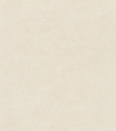 Rasch Tapeten 445817 Creme mit körniger Putz-Struktur-10,05m x 0,53m (LxB) Vlies Tapete Rasch Kollektion Factory III, 10,05 x 0,58