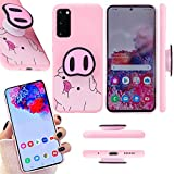 Kliah Cute Galaxy S20 Case Pig Phone Case with Popsocket I Piggy Nose Pop Socket Cases- 3D Pigs Noses Pattern Stand Glaxy S20 Back Cover I Pink Protective Lanyard Cartoon Case for Samsung Galaxy S20