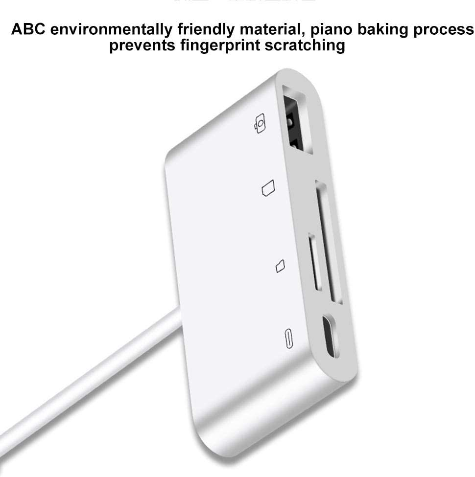 Mac-Book Pro etc,Type-c to USB//CF//TF//SD Wendysy PD 3A Type-c Hub Reader for IPad Pro 11//12.9 2018