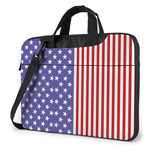 Bolso de Hombro Impreso Bandera Azul y roja del Ordenador portátil, maletín del Bolso de Mensajero del Negocio del Bolso de la Caja del Ordenador portátil