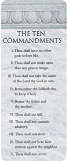 The Ten Commandments List Textured Stone Look Cardstock Bookmarks, Pack of 12