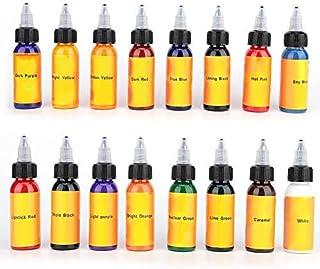 16 Farben Tattoo Ink Tätowierung Tinten, Natürliche Langle