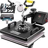 VEVOR Heat Press 15X15 Inch Heat Press Machine 5 in 1 Digital Multifunctional Sublimation T-Shirt Heat Press Machine for T Shirts Hat Mug Cap