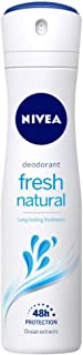 NIVEA Fresh Natural Deodorant, 150ml, for fresh feeling 48h Gentle Care with Ocean Extracts