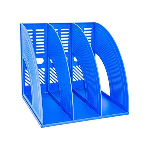 SAYEEC - Organizador de escritorio para archivadores de documentos (plástico triplicado, para revistas, marcos de plástico, separadores de archivos, archivador y caja organizadora)