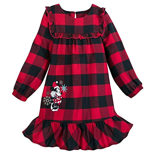 Disney Minnie Mouse Holiday Plaid Nightshirt for Girls – Size 4 Multi