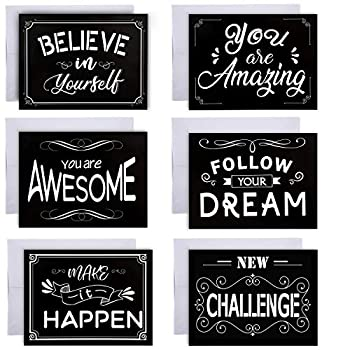 36 Pieces Inspirational Greeting Cards Motivational Quote Card with Envelopes for Graduates Students  Inspirational Cards