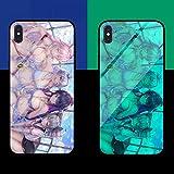 Carcasa de Telefono,Funda Protectora para iPhone Funda para Teléfono 3D Carcasa de Vidrio Templado Brillo Nocturno Bikini Mujer Anime Antifricción Serie (Compatible con iPhone XR)