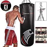 Sportstech Doppelverstärkter Kampfsport Boxsack mit 40cm Durchmesser & Innovative...