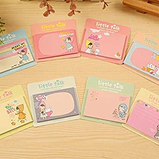 SGJFZD 8 Pack Capybara Fat Rabbit Cartoon Sticky Notes Notebook Random Color Delivery (Cover Colors : Little red Riding Ho...