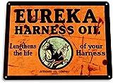 none_branded Señal de Advertencia señal de Seguridad Eureka Harne Oil Tin Gas Station Garage Oil Decoración Mural