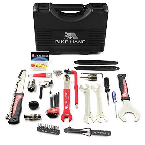 BIKEHAND 17 Piece Bike Bicycle Repair Tool Kit Set Maintenance