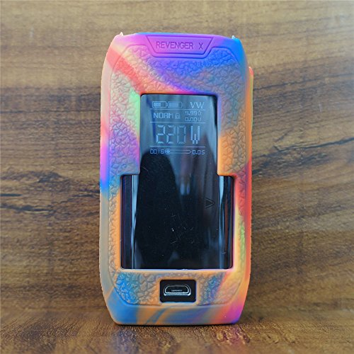 ModShield for Vaporesso REVENGER X 220W TC Silicone Case ByJojo Cover Shield Wrap Skin (Rainbow)