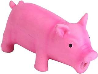 Juguetes para perros chillones Látex suave Mascotas con forma de cerdo Divertido Cachorro Sonido Masticar Juguete para morder con un cerdo realista Sonidos que gruñen Niños Niños Juegos(Rosa m)