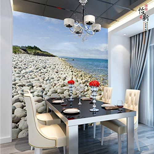 Shuangklei behang achtergrond sofa Tv muurschildering hoofdstenen pleister eetkamer 3D muurschilderingen papier van wand steen fotobehang 450 x 300 cm.