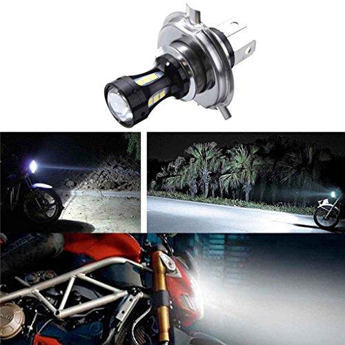 6.74x4.73CM H4 18W LED de la motocicleta 3030 CRUCE Moto Luces de...