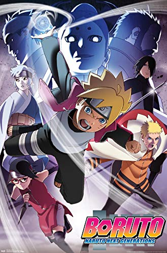 Trends International Boruto: Naruto Next Generations - Key Art Wall Poster, 22.375' x 34', Unframed Version