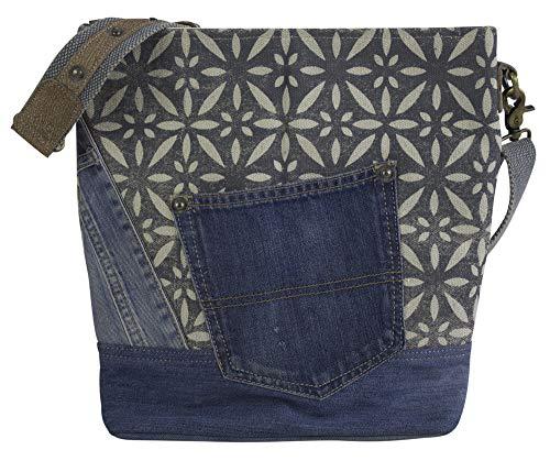 Sunsa Dam väska axelväska handväska axelväska kanvas & läderväska med jeans väskor denim liten axelväska blå damväskor vintage crossbody handväskor tonåring mode rea läder