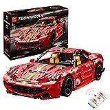 KEAYO Coche deportivo de técnica para Ferrari F12 Berlinetta, con mando a distancia y motor, bloques de montaje compatibles con Lego Technic