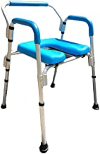 Commode Chair/Shower Chair, Versatile(tm) 3-in-1 Padded Commode/Shower Chair. Institutional Quality, Padded Armrests and Back, Adjustable Height.