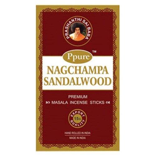 ppure Nag Champa–sándalo Perfume Premium Masala–Varillas de incienso 15gramos