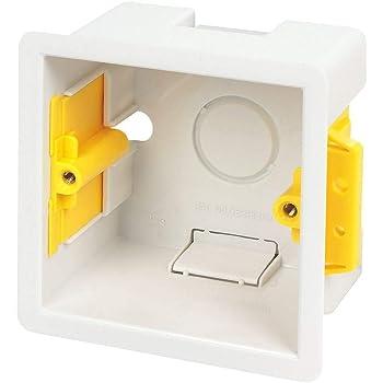 Caja de empotrar cuadrada 47 mm-Appleby blanco: Amazon.es: Bricolaje y herramientas