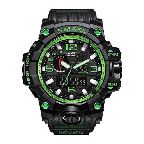 Digital Uhren für Kinder Jungen - Wasserdicht Outdoor Sports Digitaluhren Analog Armbanduhr mit Wecker/Timer/LED-Licht, Elektronische Stoßfest Handgelenk Uhr für Jugendliche Kinderuhren (green)