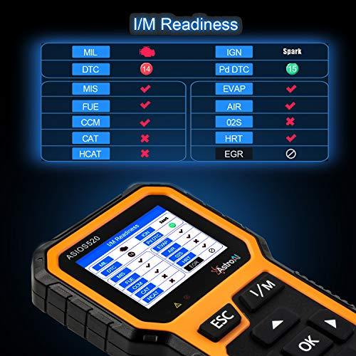 AstroAI OBD2 ASIOS520 Diagnostique Voiture, Valise Diagnostic Multimarque, Lecteur de Code de Défaut Scanner, Outil de Diagnostic Auto pour Tester Les Systèmes de Moteur