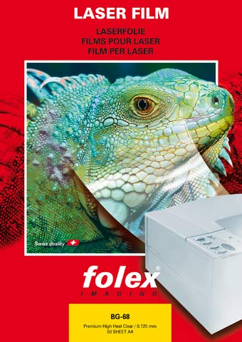 folex® Laserfolie BG-68, A4, 0,125 mm, klar (50 Stück), Sie erhalten 1 Packung á 50 Stück