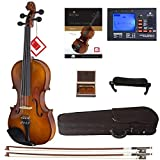 Cecilio Violin For Beginners - Beginner Violins Kit For Student w/Case, Rosin, 2 Bows, Tuner, First Lesson Book - Starter Musical Instruments For Kids & Adults Size 3/4 Color Varnish