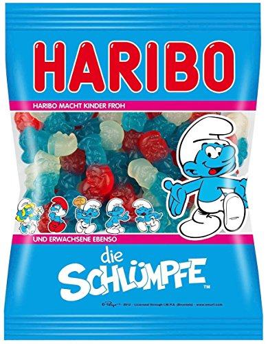 Haribo The Smurfs Soft Gummy Candies Original from Germany 200g/7.05oz