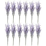 Flores artificiales de lavanda, decoración de granja (12 paquetes)