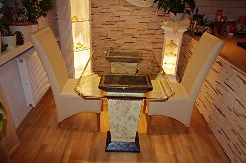 Antikes Wohndesign Esstisch Tafeltisch Küchentisch Marmortisch Steintisch
