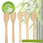 Personalized-Custom-Engraved-5-PCS-Natural-Eco-Friendly-Bamboo-Cooking-Utensil-SetSpoonFolk-Spatula-MixNon-Stick-Wooden-Kitchen-Gadget-Pan-Cookware-Baking-CookingGreat-Gift-For-Chef-Foodies