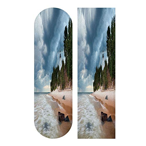 SUPHOME Au Sable Lighthouse Non Slip Skateboard Longboard Colored Sandpaper Grip Tape Griptape Deck 1 pcs 9