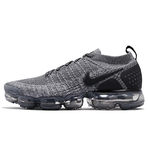Nike Mens Air Vapormax Flyknit 2 Dark Grey/Black-Wolf Grey 942842 002 - Size 9
