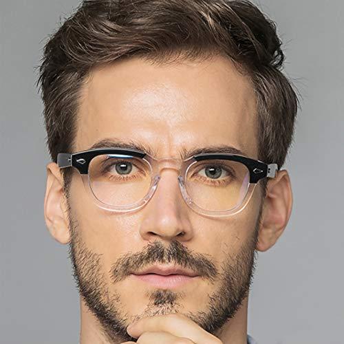 Joyfitness Gafas De Lectura Anti-Azules, Lectores Unisex Semi Sin Montura con Lentes Rectangulares Que Bloquean La Luz Azul, Unisex para Hombres Y Mujeres
