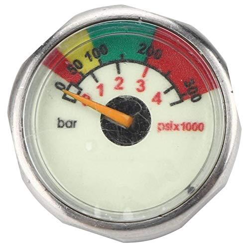 Gatuxe Manómetro, medidor de presión de Aire Ligero M10, tamaño pequeño, Profesional para S300 para Otros Equipos de Buceo para Buceo