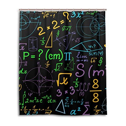 JSTEL Decor Rideau de Douche à Motifs géométriques Multicolores Impression 100% Polyester Rideau de Douche 152 x 183 cm